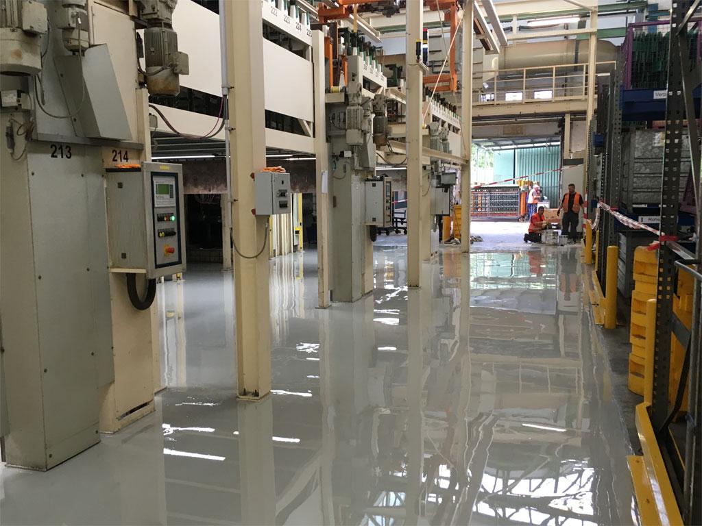 Industriebau Illgen - Bodenbeschichtung